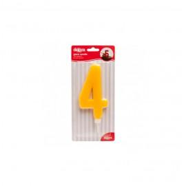 Vela Gigante Nº 4 Amarillo 15Cm  Ref: 345281