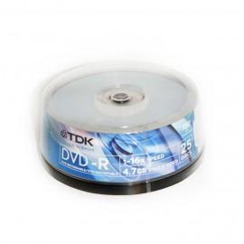 DVD-R 4,7GB LATA 25U.TDK